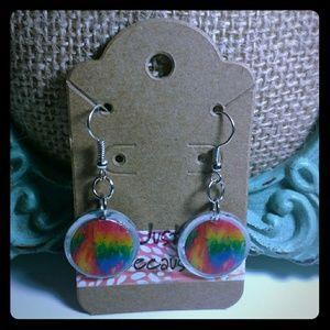 Jewelry - Gasoline Rainbow Earrings
